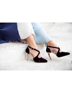 zapatos fiesta terciopelo