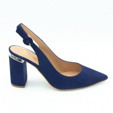 zapatos salon azul