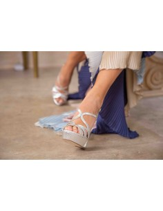 sandalias plataforma novia