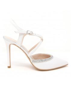 zapato blanco novia