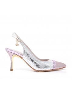 zapatos salon plata