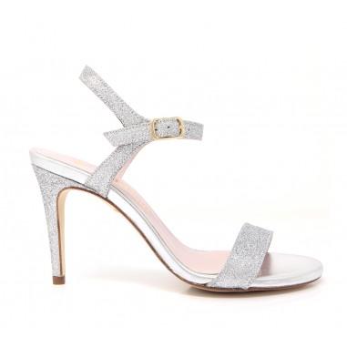 sandalias plata novia