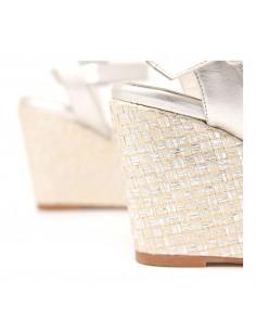 sandalia plata boda
