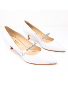 zapatos blanco bajos