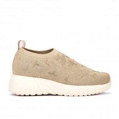 zapatillas deportivas plataforma y glitter