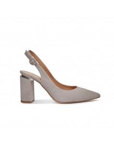 zapatos salon gris