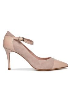 zapatos de charon negro y ante rosa