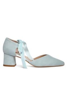 zapato de terciopelo abierto