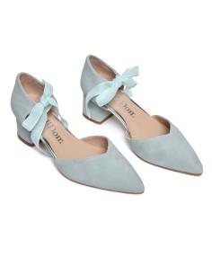 zapato azul novia