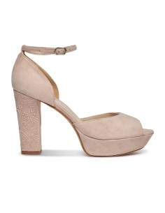 sandalia ante rosa