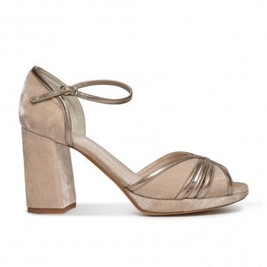 sandalia de terciopelo