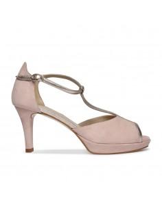 sandalias rosa con horma ancha