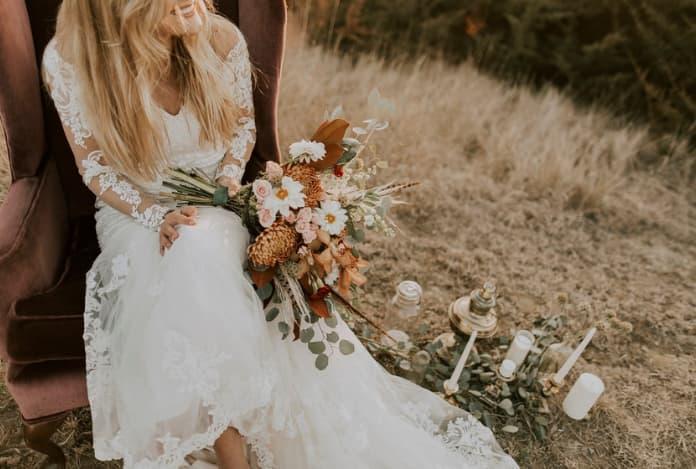 zapatillas blancas de novia