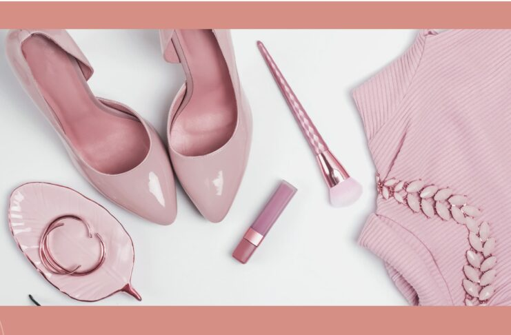 sandalias rosa palo