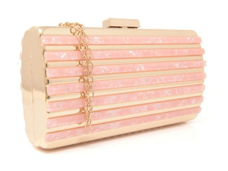 bolso de fiesta rosa