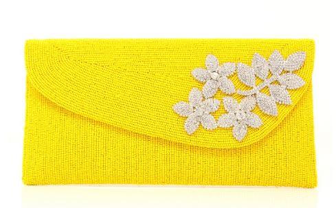 clutch de fiesta amarillo