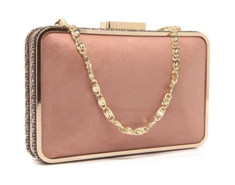 clutch elegante rosa