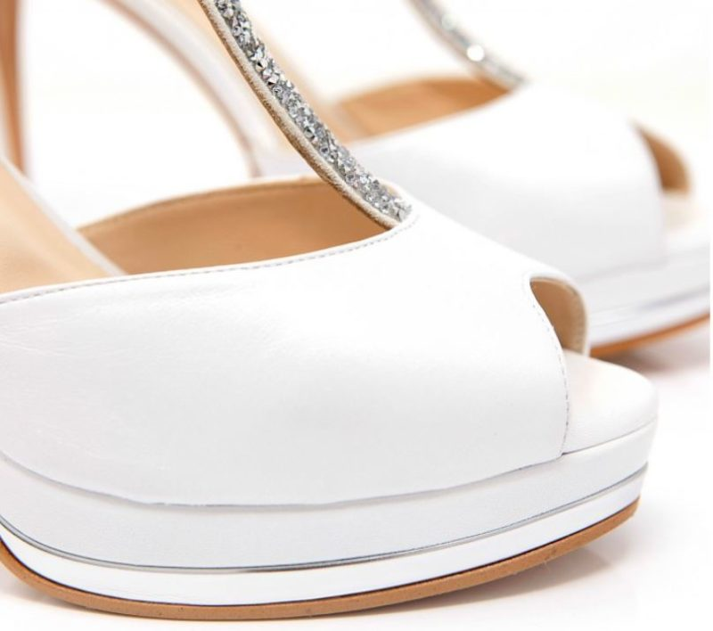 sandalias peep toe novia