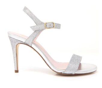 zapatos plateados novia