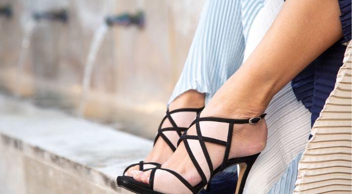 sandalias peep toe