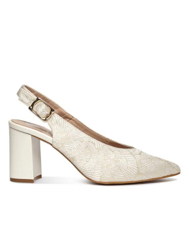 zapatos de novia con estampado