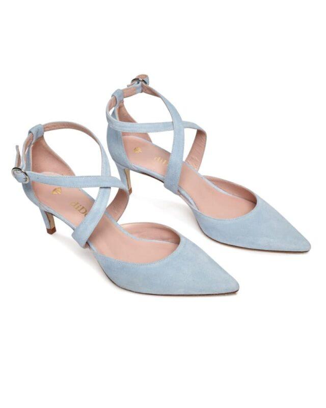 zapato azul vestidos de novia