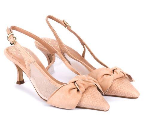 zapatos de salon con lazo